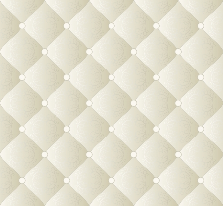 quilted fabric: creamy background with ornaments