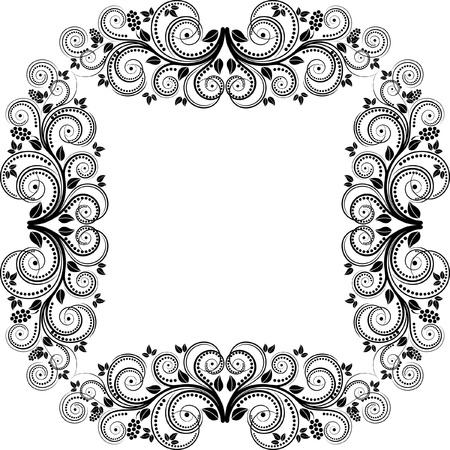decorative square frame illustration Stock Vector - 14405430
