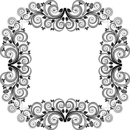 decorative square frame illustration