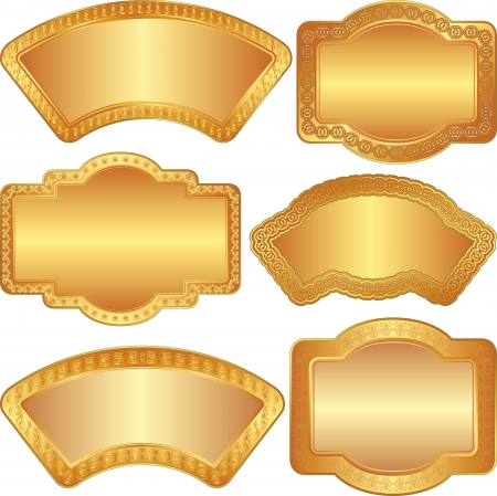 golden background with ornaments and copy space Vector