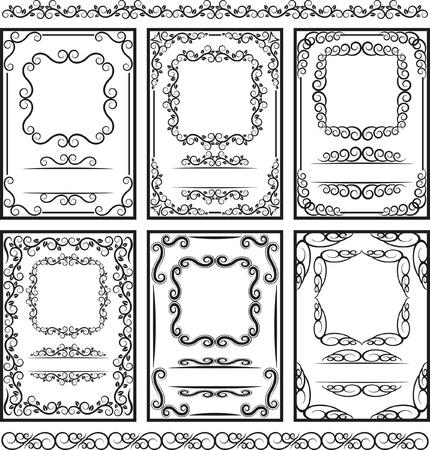 fronteiras: conjunto de molduras e margens - P�gina da decora��o Ilustra��o