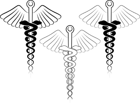 illustration of the medical symbol - esculap Vector