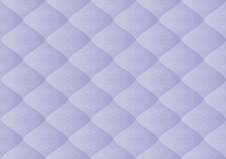quilted fabric: light blue background with ornaments