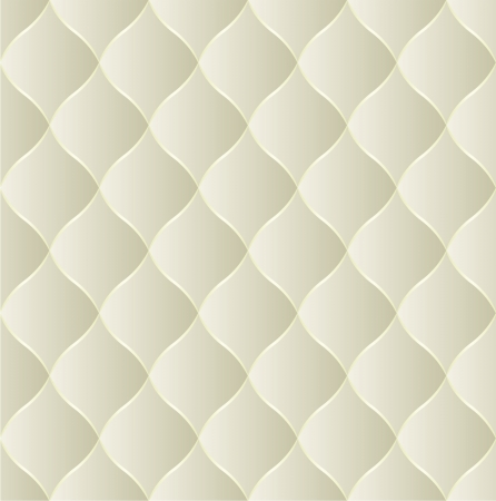 creamy seamless background - quilted fabric Vector
