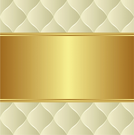 creamy gold background with copy space Illustration