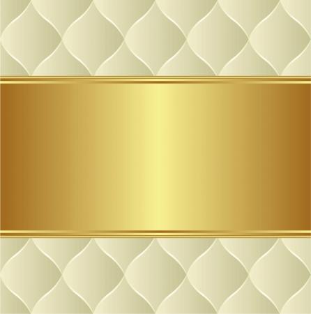 fiocco oro: gold background cremoso con copia spazio Vettoriali