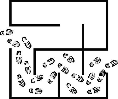 way out: simple maze - clip art illustration Illustration