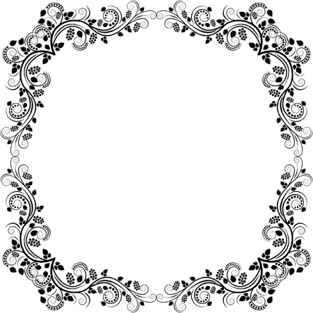floral frame - clip art illustration