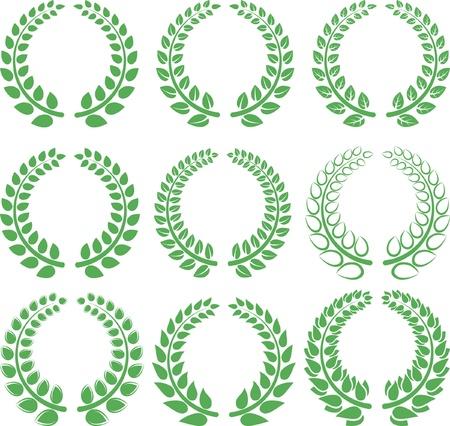 wreaths: laurel wreath - symbol of victory