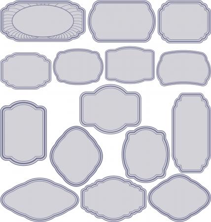 set van eenvoudige frames Stock Illustratie