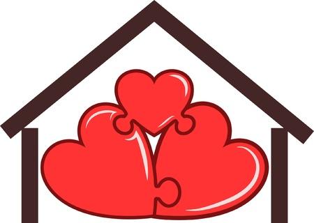 home logo: symbol of the home