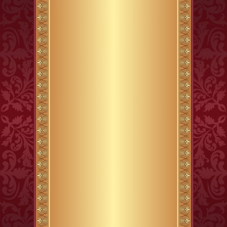 burgundy: maroon and gold background with ornaments