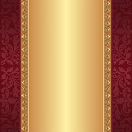 sfondo marrone e oro con ornamenti Vettoriali