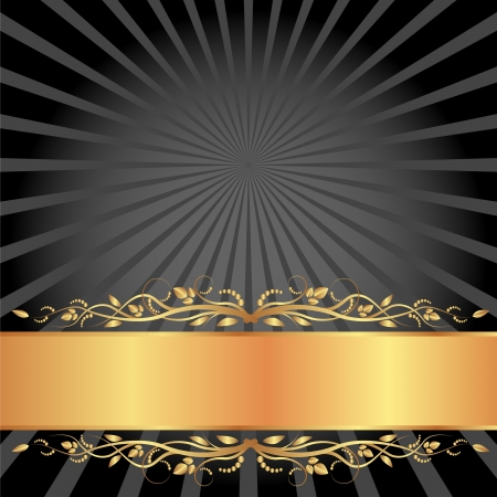 brass plate: black and gold background with copy space