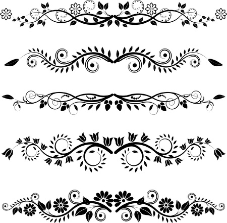 floral ornaments:  floral borders and ornaments