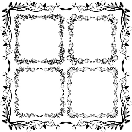 floral frames  Stock Vector - 15292010