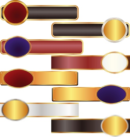 black, gold, red, silver banners   Stock Vector - 15351621