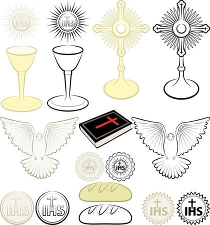 eucharistie: symboles de la religion chrétienne