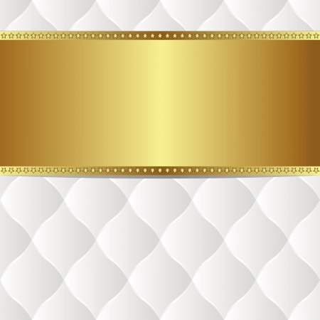 quilted fabric: white gold background with copy space