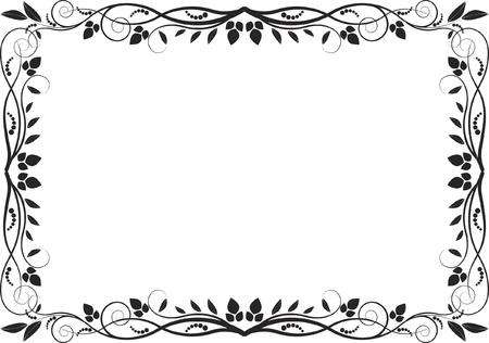 floral border - decorative frame Illustration