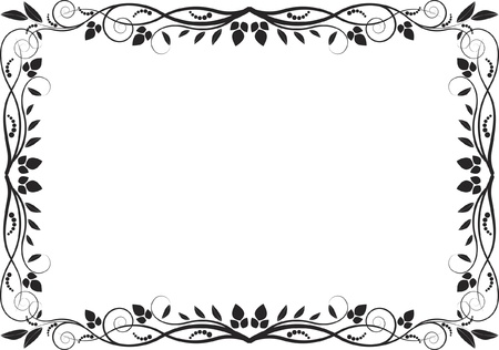 floral border - decorative frame Illustration