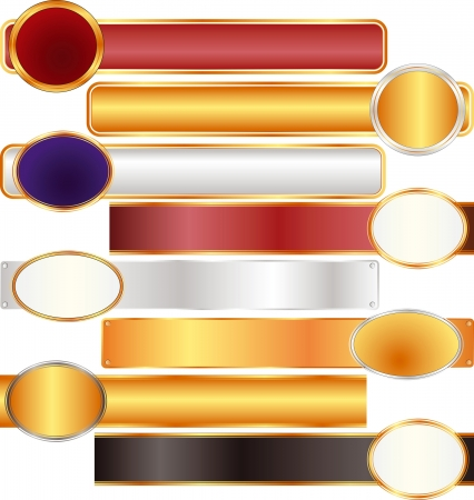 long frames red gold silver black Stock Vector - 15689539
