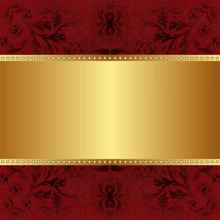 red gold background with copy space Vector