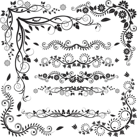 floral corners and borders Stock Vector - 15689548