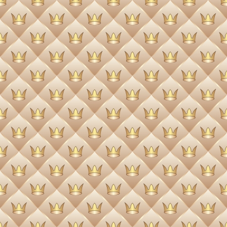 brass plate: background with crowns - seamless