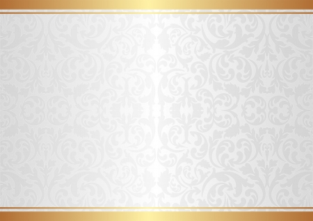 gold background: white background with ornaments