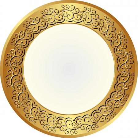 brass plate: round glamour background