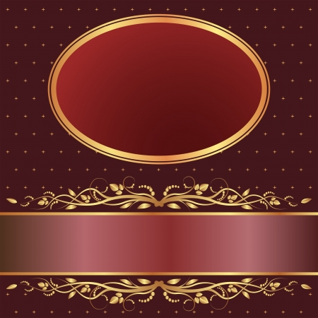 brown and red background with golden ornaments
