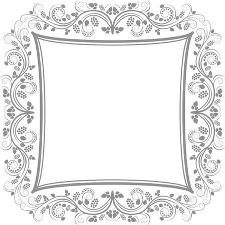 대칭: 장식 꽃 테두리 - 클립 아트 그림 일러스트