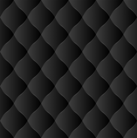quilted fabric: black neutral  background - seamless Illustration