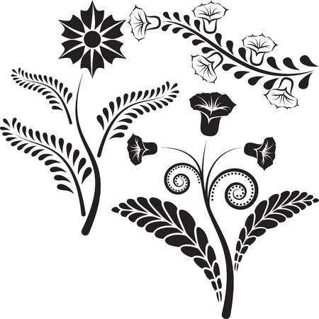 flowers silhouette Stock Vector - 15976534