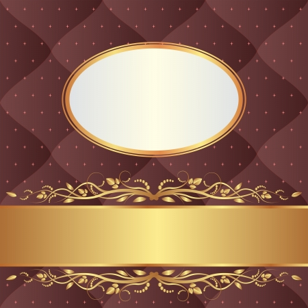 brown background with gold ornaments