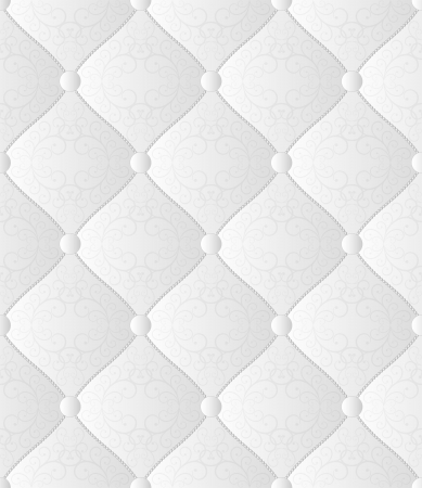 white seamless background - quilted fabric Vector