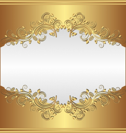 shone: golden background with ornaments Illustration