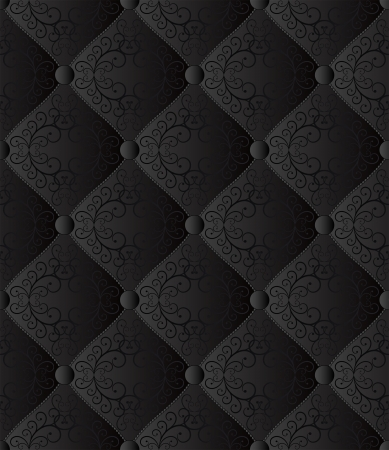 quilted fabric: black seamless background - quilted fabric