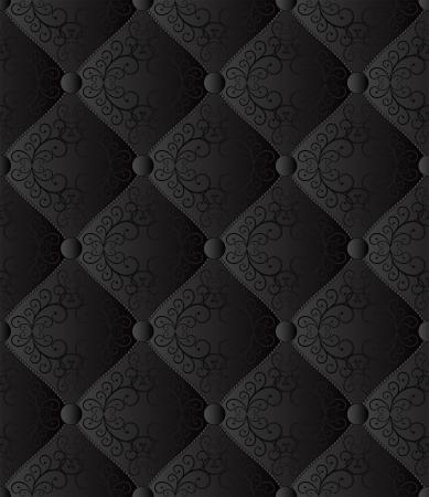 noir sans soudure de fond - tissu matelassé