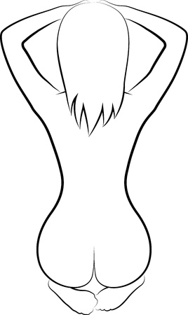 sketch of naked woman