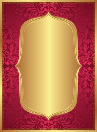 red gold background with copy space