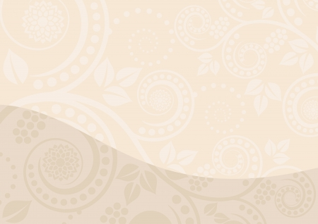 ornamental background: beige background with floral ornaments
