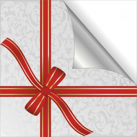plied: red ribbon wrapped around gift box