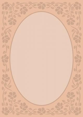 beige background with floral border Vector