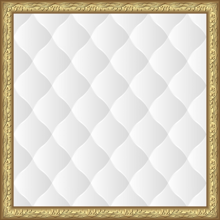 quilted fabric: white background with golden border