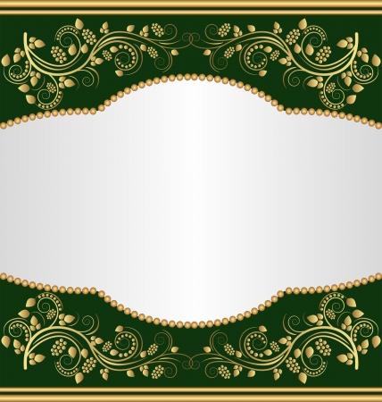 fondo verde oscuro: fondo verde oscuro con adornos de oro
