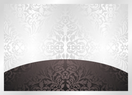 black and white background with ornaments Stock Vector - 16367926
