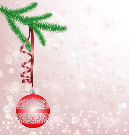 red christmas ornament on blurred  background Stock Vector - 16451341