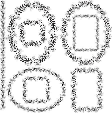 bordes y marcos florales - ilustración